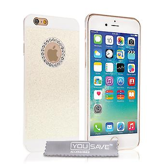 Yousave Accessories Iphone 6 And 6s Flash Diamond Case - White