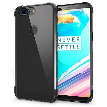OnePlus 5T fall, reptålig - Ultra Slim och Lightweight - inga skrymmande - TPU Gel mjuk tunn silikon tillbaka täcker - svart