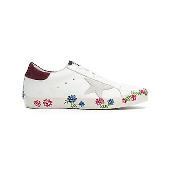 Golden Goose women's G32WS590E70 White leather of sneakers