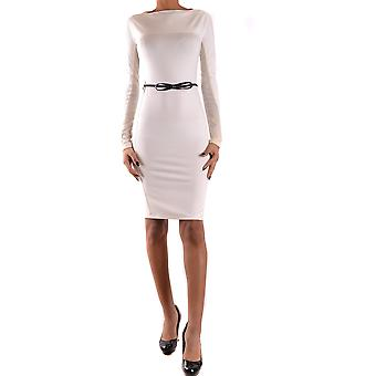 Twin set women's MCBI302101O white/black polyester dress