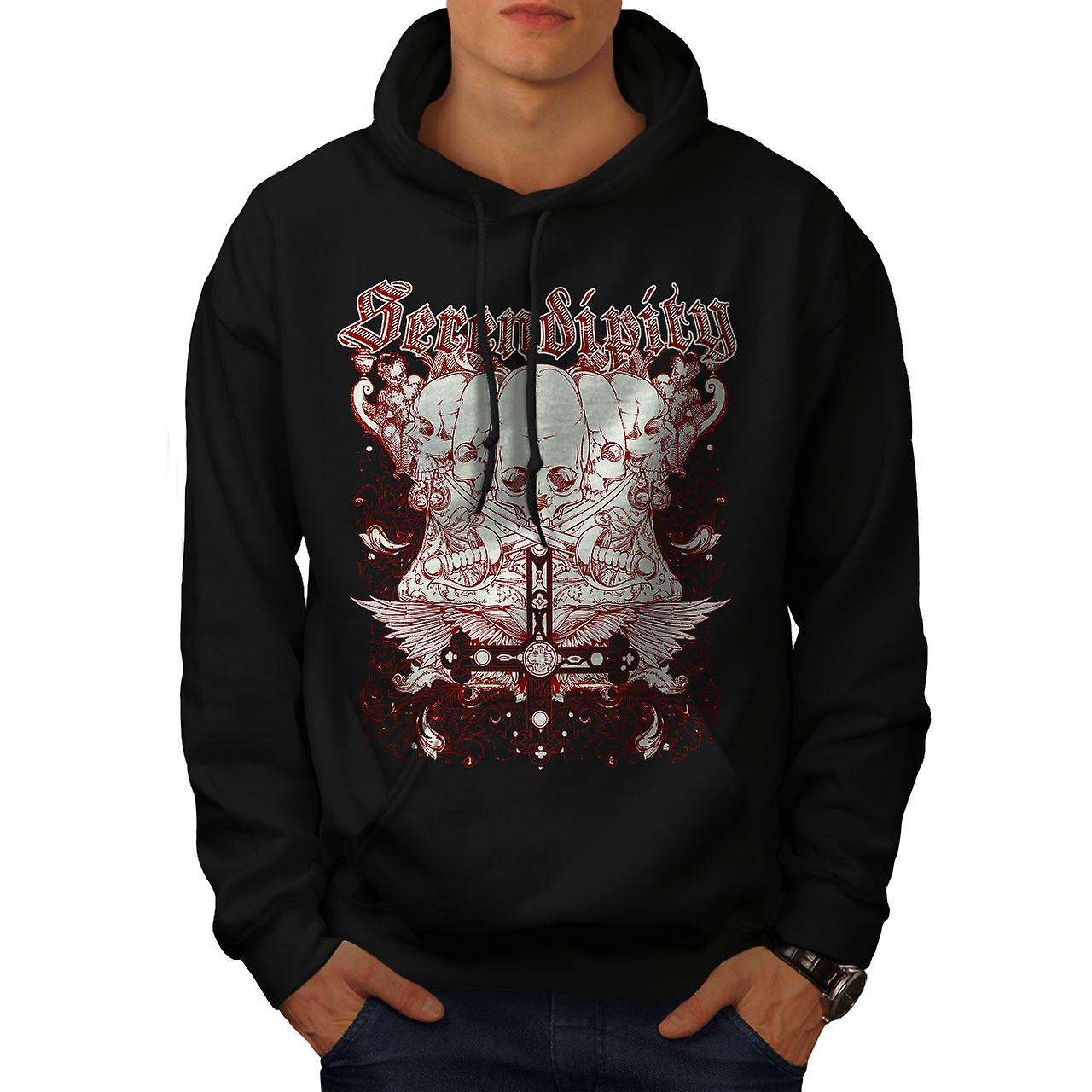 Sword Death Skull Men Black Hoodie | Wellcoda
