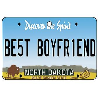 North Dakota - Best Boyfriend License Plate Car Air Freshener