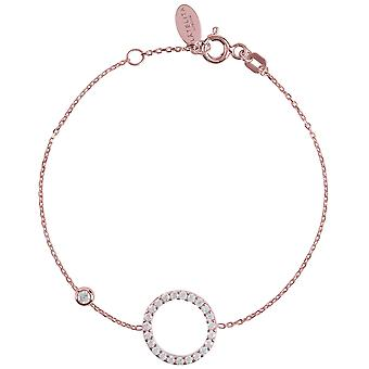 Latelita Halo Circle Bracelet Rose Pink Gold Delicate Jewellery Bridesmaid Gifts