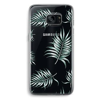 Samsung Galaxy S7 Transparent Grenzfall - einfache Blätter