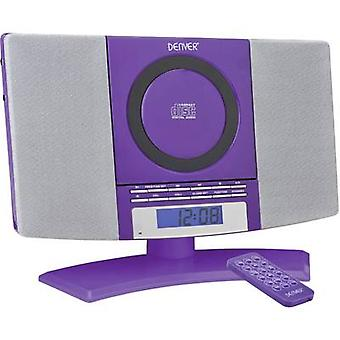 Audiosystemet Denver MC-5220 AUX, CD, FM, Wall mount parentes lilla
