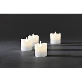 LED wax candle 4-piece set White Warm white (Ø x H) 4.2 cm x 4.5
