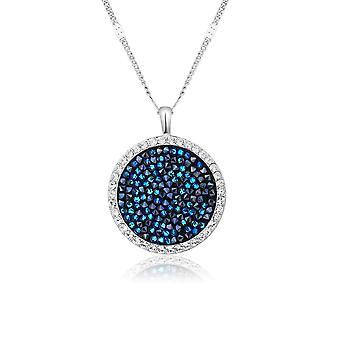 Pendentif Rock en Cristal Swarovski Elements Bleu
