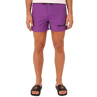 Palm Angels men's PMFA002S184030569588 purple polyester bath Boxer