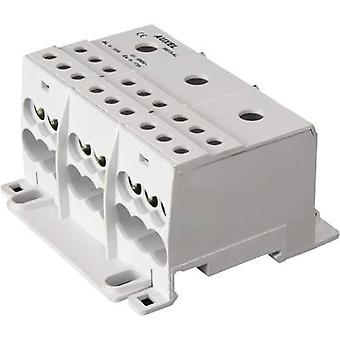 Distribution block Grey 3-pin 125