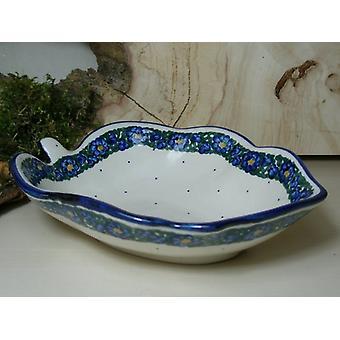Plato, aprox. 19 x 14 cm, altura 5 cm, única - Bunzlauer porcelana - 6559 BSN