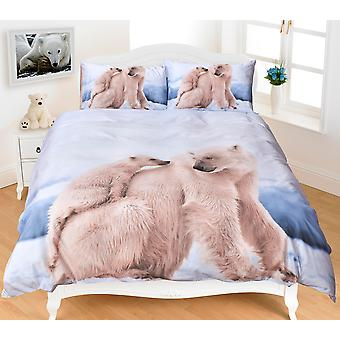 Polar Bear 3D Effect Duvet Cover Bedding Set