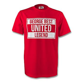 George Best Man Utd Legend Tee (red) - Kids