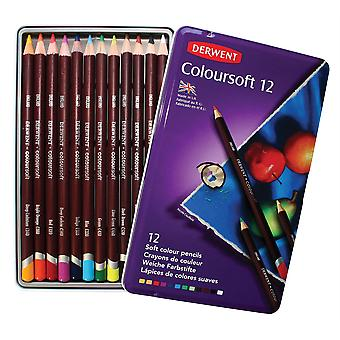 Derwent Coloursoft pennor 12 Tin