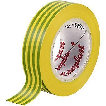 Cinta aislante verde-amarillo (L x W) 25 m x 15 mm Coroplast