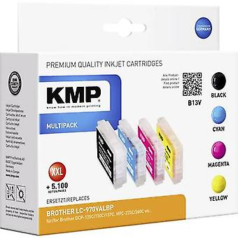 KMP Ink replaced Brother LC-970 Compatible Set Bla
