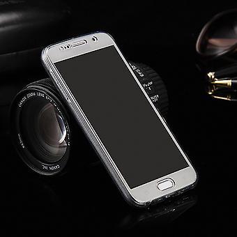 Krystal case cover for Huawei G8 grå ramme hele kroppen