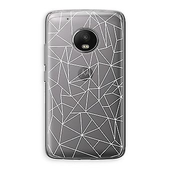 Motorola Moto G5 boîtier Transparent (doux) - lignes géométriques blancs