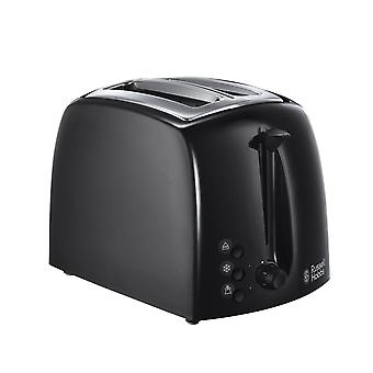 Russell Hobbs 21641 Textures Plastic Wide 2 Slice Toaster - Black