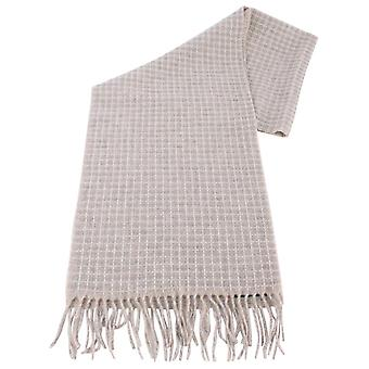 Bassin and Brown Moore Small Checked Cashmere Scarf  - Beige/Grey
