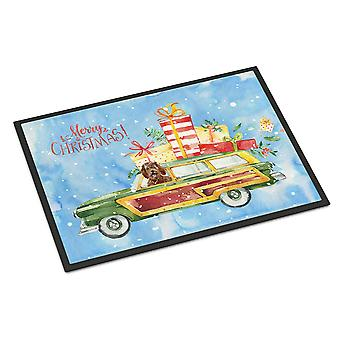 Merry Christmas Labradoodle Indoor or Outdoor Mat 24x36
