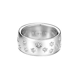 ESPRIT vrouwen ring edelstaal zilver jw52885 cubic Zirkonia ESRG02691A1