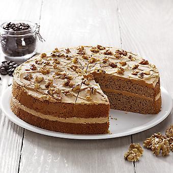 Handgemachte Kuchen Unternehmen gefroren Kaffee & Walnuss Kuchen