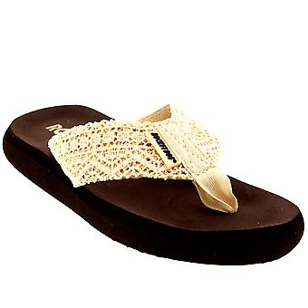 Womens Rocket Dog Spotlight Lima Crochet Slip On Beach Summer Flip Flops