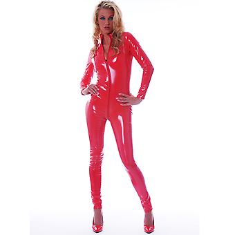 Honour Women's Fitted Catsuit in PVC with High Neck & Longsleeves Harlot Design