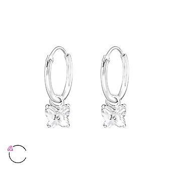 Butterfly crystal from Swarovski® - 925 Sterling Silver Earrings - W32858X