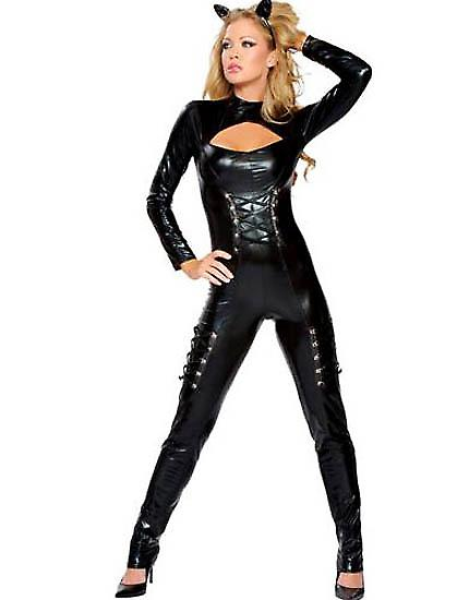 Waooh 69 - Tenue Sexy Costume Combinaison Black Cat