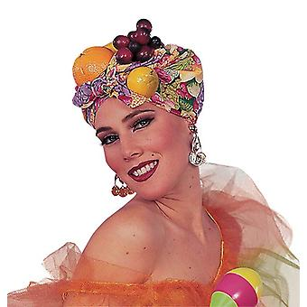 Owoc hełm stylu Carmen Miranda.
