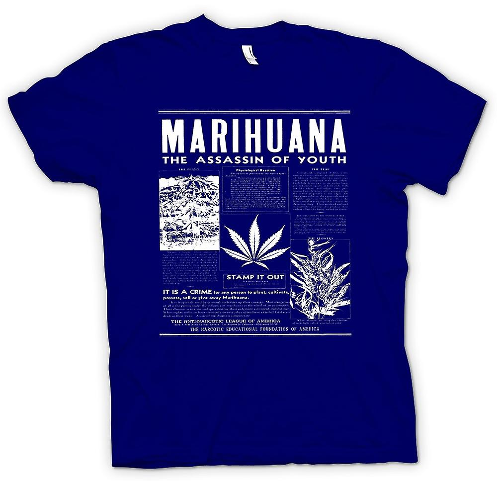Herren T-Shirt - Marihuana Hash - Assassins Of Youth