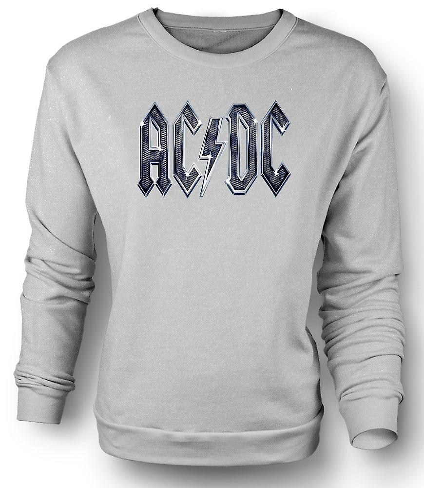 Mens Sweatshirt AC/DC White Logo - Rock