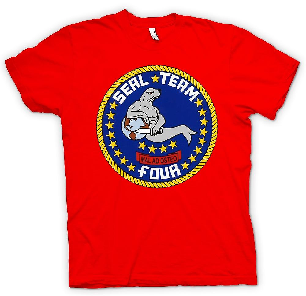Herr T-shirt-Seal Team 4 - US Navy