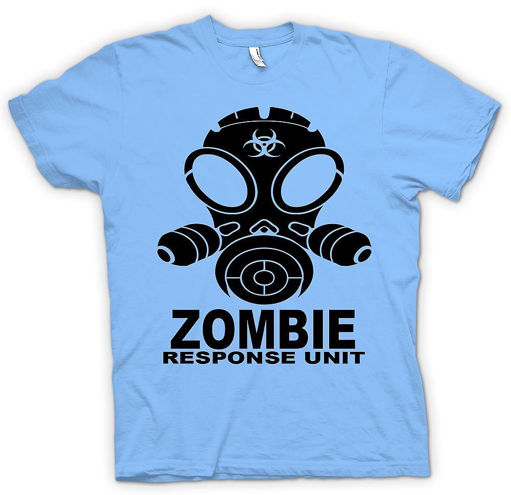 Hommes T-shirt - Unité de réponse de zombi - masque à gaz