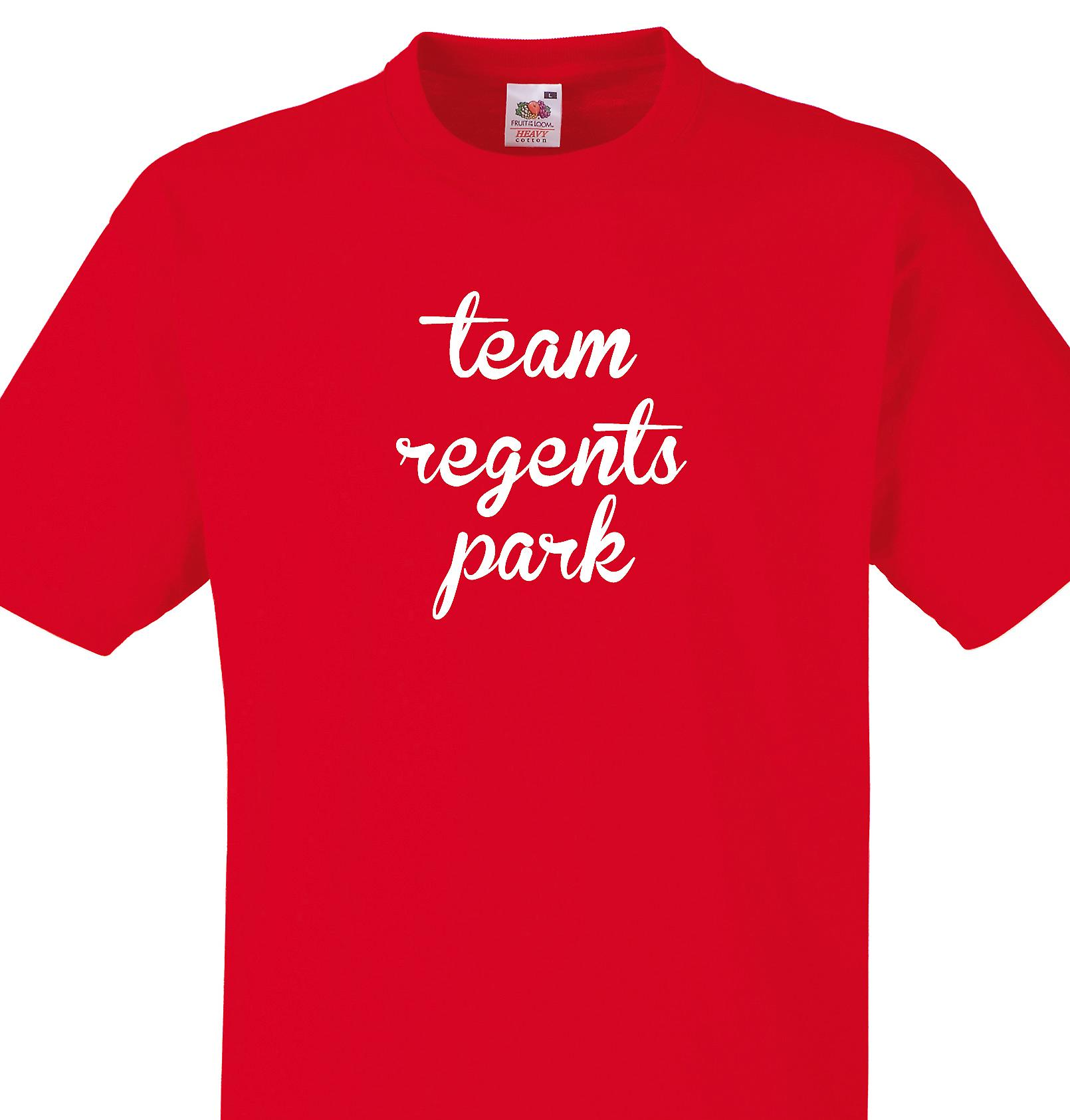 Team Regents park Red T shirt