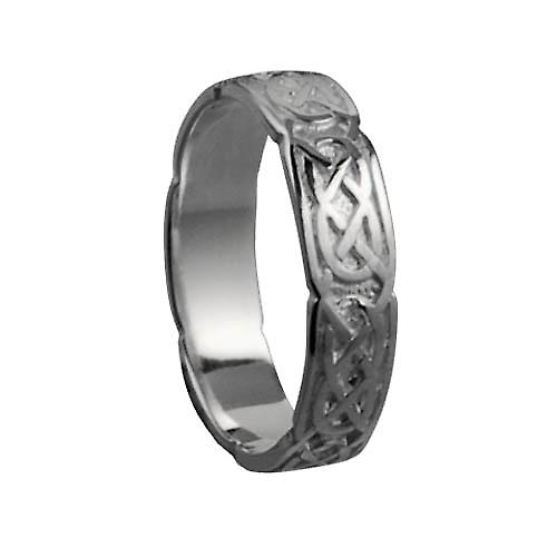 18ct white gold 4mm Celtic Wedding Ring