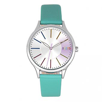 Crayo Gel Leatherette Strap Watch - Teal