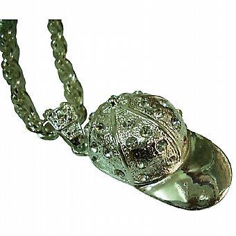 Gorra de béisbol de HipHop con collar de diamantes de imitación