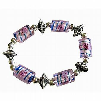 Exclisive traditionella etniska Millefiori armband elastisk armband