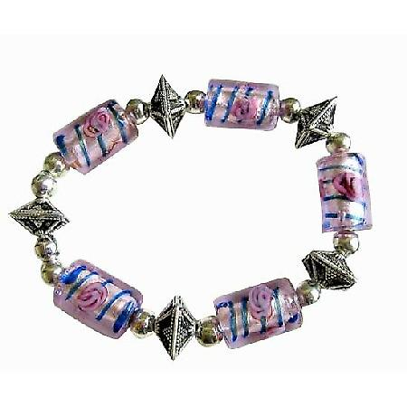 Exclisive Traditional Ethnic Millefiori Bracelet Stretchable Bracelet