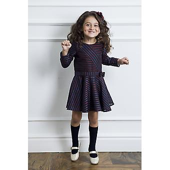 Striped patchwork girl dress