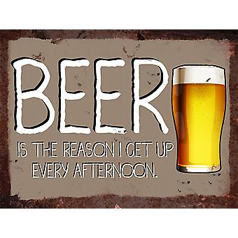 Vintage Metal Wall Sign - Beer Afternoon