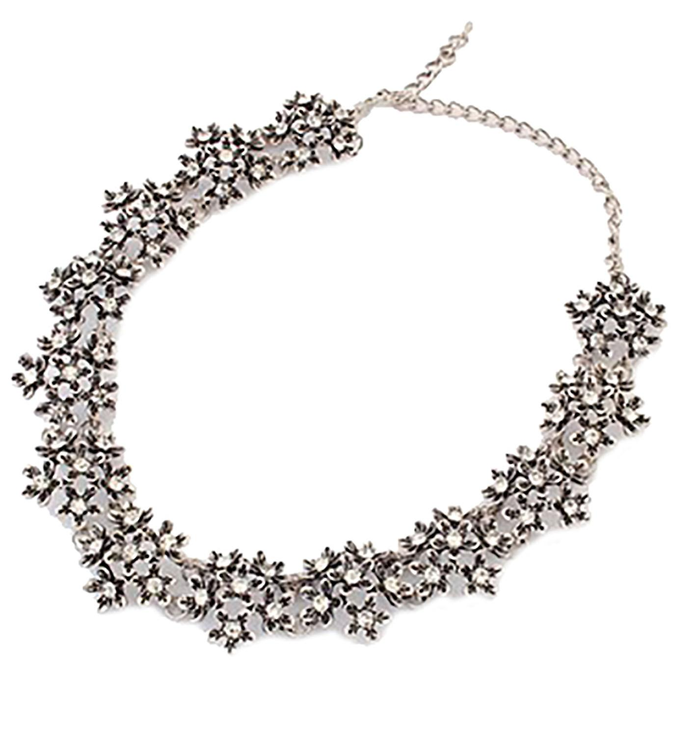 Waooh - necklace in the shape of small flowers with Rhinestone