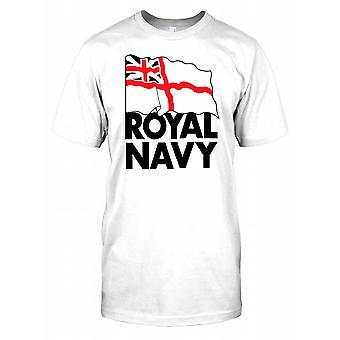 Royal Navy Flag - British Naval Power Mens T Shirt