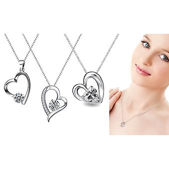 Set Of 3 Heart Necklaces