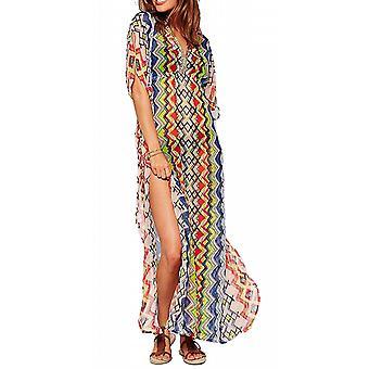 Waooh - Robe de plage longue avec motifs géométriques Joco