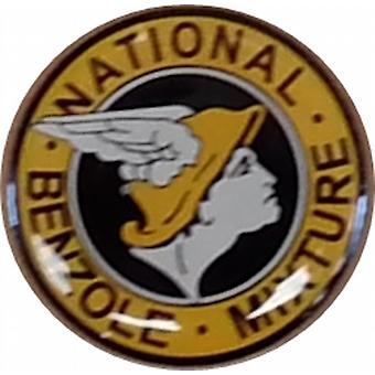 Nationale benzol ronde glazuur / metal pin badge (ff)