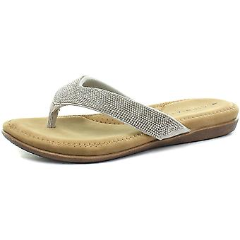 Cipriata Alcee Womens Diamante Flip Flops/Thong Sandals  AND COLOURS