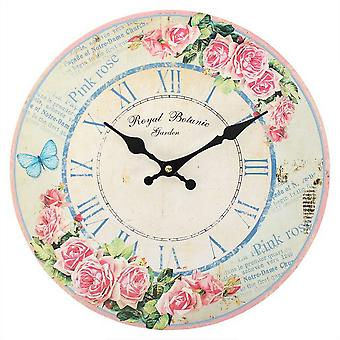 Something Different 34cm Rose Butterfly Clock